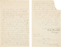 Baseball Collectibles:Others, 1887 Harry Wright Handwritten & Signed Contract....