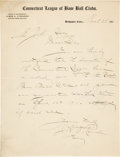 Baseball Collectibles:Others, 1911 Jim O'Rourke Handwritten Signed Letter, PSA/DNA NM 7....