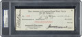 Baseball Collectibles:Others, 1930 Babe Ruth Signed New York Yankees Payroll Check, PSA/DNA NM-MT 8....
