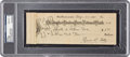 Autographs:Checks, 1931 Ty Cobb Signed Check, PSA/DNA Gem Mint 10. ...