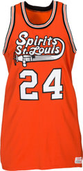 Basketball Collectibles:Uniforms, 1974-76 Marvin Barnes Spirits of St. Louis Salesman's SampleJersey. ...