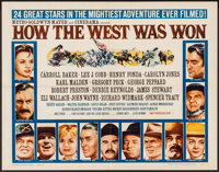 """How the West was Won (MGM, 1963). Half Sheet (22"""" X 28"""") Style B. Western"""