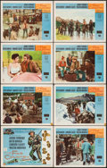 """Movie Posters:Western, The Far Country (Universal International, 1955). Lobby Card Set of 8 (11"""" X 14""""). Western.. ... (Total: 8 Items)"""