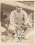 "Baseball Collectibles:Photos, 1915 J.T. ""Chief"" Meyers Signed Photograph from The Frank W. SmithCollection, PSA/DNA Type 1.. ..."