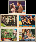 "Movie Posters:Adventure, Tarzan and the Huntress & Others Lot (RKO, 1947). Lobby Cards(5) (11"" X 14""). Adventure.. ... (Total: 5 Items)"
