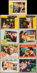 "Movie Posters:Drama, The Fan & Others Lot (20th Century Fox, 1949). Title Lobby Cards (3) & Lobby Cards (6) (11"" X 14""). Drama.. ... (Total: 9 Items)"