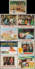 """Movie Posters:Romance, The Prince and the Showgirl & Others Lot (Warner Brothers, 1957). Lobby Cards (7) & Title Cards (2) (11"""" X 14""""). Romance.. ... (Total: 9 Items)"""