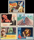 """Movie Posters:Academy Award Winners, On the Waterfront & Others Lot (Columbia, 1954). Lobby Cards (4) & Title Lobby Card (11"""" X 14""""). Academy Award Winners.. ... (Total: 5 Items)"""
