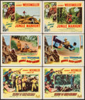 "Movie Posters:Adventure, Valley of Head Hunters & Others Lot (Columbia, 1953). LobbyCards (6) (11"" X 14""). Adventure.. ... (Total: 6 Items)"