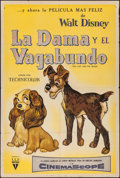 """Movie Posters:Animation, Lady and the Tramp (RKO, 1955). Argentinean One Sheet (29"""" X43.25""""). Animation.. ..."""