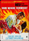 """Movie Posters:Academy Award Winners, Gone with the Wind (MGM, R-1970s). German A1 (23"""" X 33""""). AcademyAward Winners.. ..."""