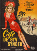 "Movie Posters:Adventure, Seven Sinners (Universal International, 1948). First Post-WarDanish Poster (24.5"" X 33.5""). Adventure.. ..."