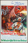 "Movie Posters:Fantasy, The Golden Voyage of Sinbad (Columbia, 1973). Autographed Belgian Poster (14"" X 22"") Mini Lobby Cards (7) (8"" X 10"") & Photo... (Total: 9 Items)"