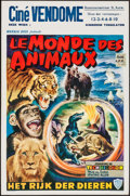 "Movie Posters:Documentary, The Animal World (Warner Brothers, 1956). Belgian (14"" X 21.5""). Documentary.. ..."