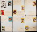 Autographs:Baseballs, 1959 Milwaukee Braves Signed Sheets....