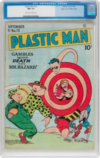 Plastic Man #13 Mile High Pedigree (Quality, 1948) CGC NM 9.4 Off-white to white pages