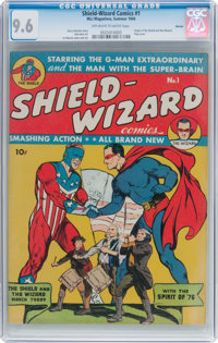 Shield-Wizard Comics #1 Denver Pedigree (MLJ, 1940) CGC NM+ 9.6 Off-white to white pages