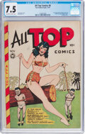Golden Age (1938-1955):Superhero, All Top Comics #8 (Fox Features Syndicate, 1947) CGC VF- 7.5 Off-white to white pages....