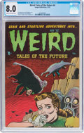 Golden Age (1938-1955):Horror, Weird Tales of the Future #4 (Aragon, 1952) CGC VF 8.0 Cream tooff-white pages....