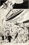 "Original Comic Art:Panel Pages, Jim Steranko International Convention of Comic Book Art ShowPromotion ""The Conventioneers"" Page 2 Nick Fury Origi..."