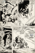 Original Comic Art:Panel Pages, Gene Colan and Joe Sinnott Captain America #117 Page 3Original Art (Marvel, 1969)....
