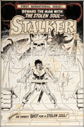 Original Comic Art:Covers, Steve Ditko and Wally Wood Stalker #1 Cover Original Art(DC, 1975)....