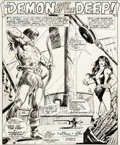 Original Comic Art:Splash Pages, Val Mayerik and the Tribe Conan the Barbarian #69 SplashPage 1 Original Art (Marvel, 1976)....