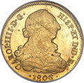 Chile, Chile: Charles IV gold 8 Escudos 1806 So-FJ MS61 NGC,...
