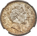 German States:Bavaria, German States: Bavaria. Ludwig II 5 Mark 1876-D MS64 NGC,...