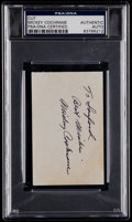 Autographs:Index Cards, Mickey Cochrane Signed Cut Signature, PSA/DNA Authentic....