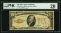 Small Size:Gold Certificates, Fr. 2400 $10 1928 Gold Certificate. PMG Very Fine 20.. ...