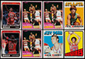 Basketball Cards:Lots, 1972 to 1988 Topps and Fleer Basketball Collection (8)....