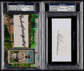 Autographs:Bats, 2010-2015 Historic Autographs Rube Marquard and Ed Bressoud PSA/DNAAuthentic Lot of 2. ...