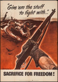 "Movie Posters:War, World War II Propaganda (U.S. Government Printing Office, 1942).Poster (28.5"" X 40"") ""Sacrifice for Freedom."" War.. ..."