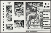 """Bride of the Monster & Others Lot (Filmmakers Releasing, 1956). Pressbook (11"""" X 14"""") & Locall..."""