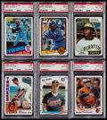 Baseball Cards:Lots, 1980's Baseball Stars & HoFers Rookie Card PSA-Graded Group (6). ...
