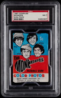 Non-Sport Cards:Unopened Packs/Display Boxes, 1967 Donruss Monkees Wax Pack PSA NM 7....