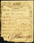 Colonial Notes:Massachusetts, Massachusetts 1779 5s 6d Very Good.. ...
