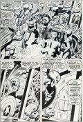 Original Comic Art:Panel Pages, John Romita Sr. and Joe Sinnott Captain America #141 Story Page 18Original (Marvel, 1971)....