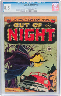 Out of the Night #1 (ACG, 1952) CGC VF+ 8.5 Cream to off-white pages