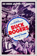 """Movie Posters:Serial, Buck Rogers (Crystal Pictures, R-1977). One Sheet (27"""" X 41""""). Serial.. ..."""