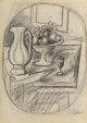 Pablo Picasso (1881-1973) Pot et compotier avec fruits, 1919 Pencil on paper 13-7/8 x 10 inches (35.2 x 25.4 cm) Sig