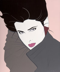 Patrick Nagel (American, 1945-1984) Bold Acrylic on canvas 47.75 x 40 in. Signed lower right