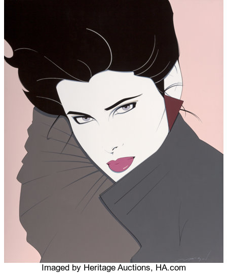 Patrick Nagel (American, 1945-1984)BoldAcrylic on canvas47.75 x 40 in.Signed lower right...