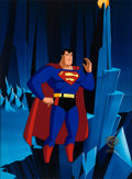 Animation Art:Production Cel, Superman: The Animated Series Production Cel (WarnerBrothers, 1999)....