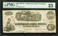 Confederate Notes:1862 Issues, T40 $100 1862 PF-3 Cr. 304.. ...