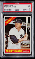 Baseball Cards:Singles (1960-1969), 1966 Topps Mickey Mantle #50 PSA EX 5....