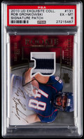 Football Cards:Singles (1970-Now), 2010 UD Exquisite Collection Rob Gronkowski Rookie Signatures Patch#131 PSA EX-MT 6....