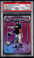 Football Cards:Singles (1970-Now), 2001 Donruss Elite Passing the Torch Autograph John Elway #PT-1 PSAMint 9....