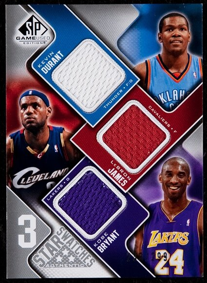 sports shoes 153d6 805b3 2009 SP Game Used Edition Kevin Durant/LeBron James/Kobe ...